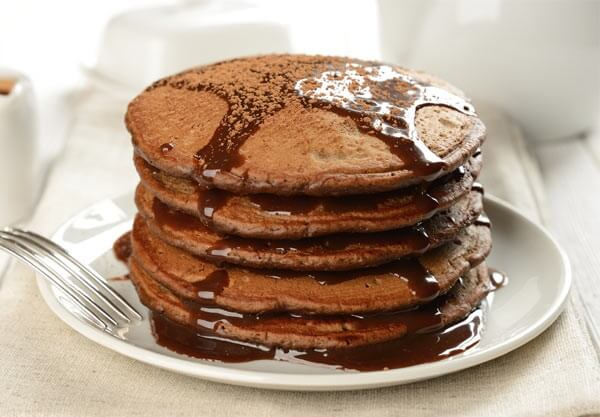 Double Chocolate Protein Pancakes : The Atkins Diet Recipes