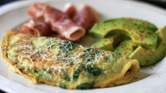 Bacon, Avocado and Jack Cheese Omelets with Fresh Salsa