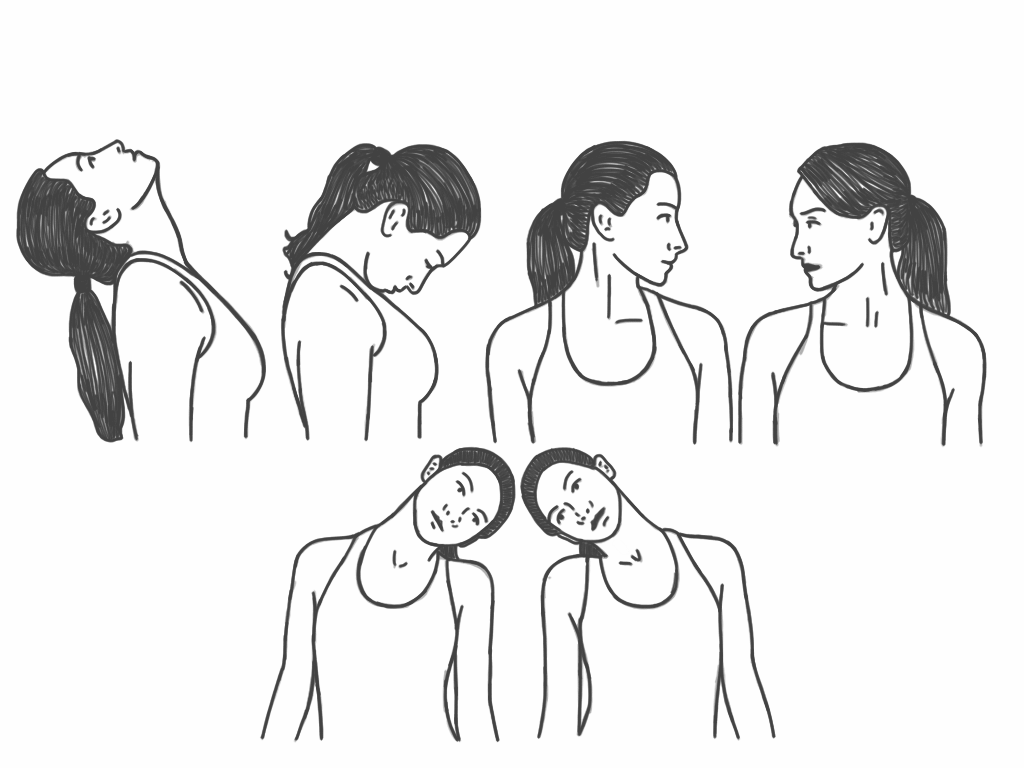 Face exercises for double chi